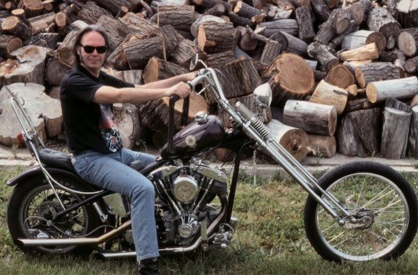 Neil Young on a Chopper